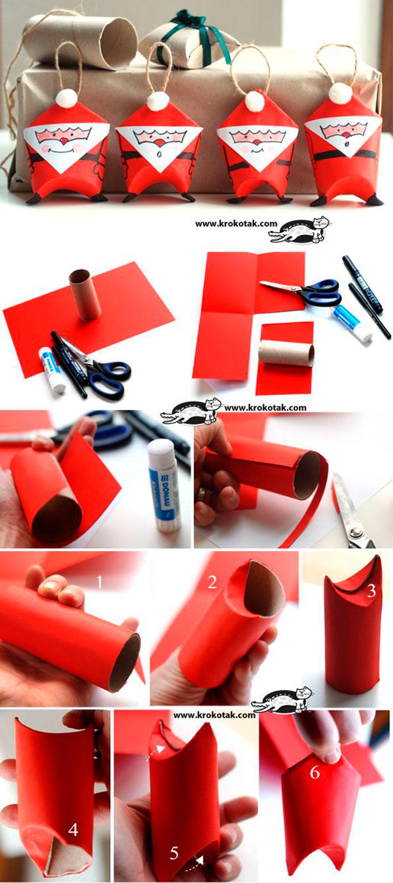 Papai Noel com rolo de papel higienico-1