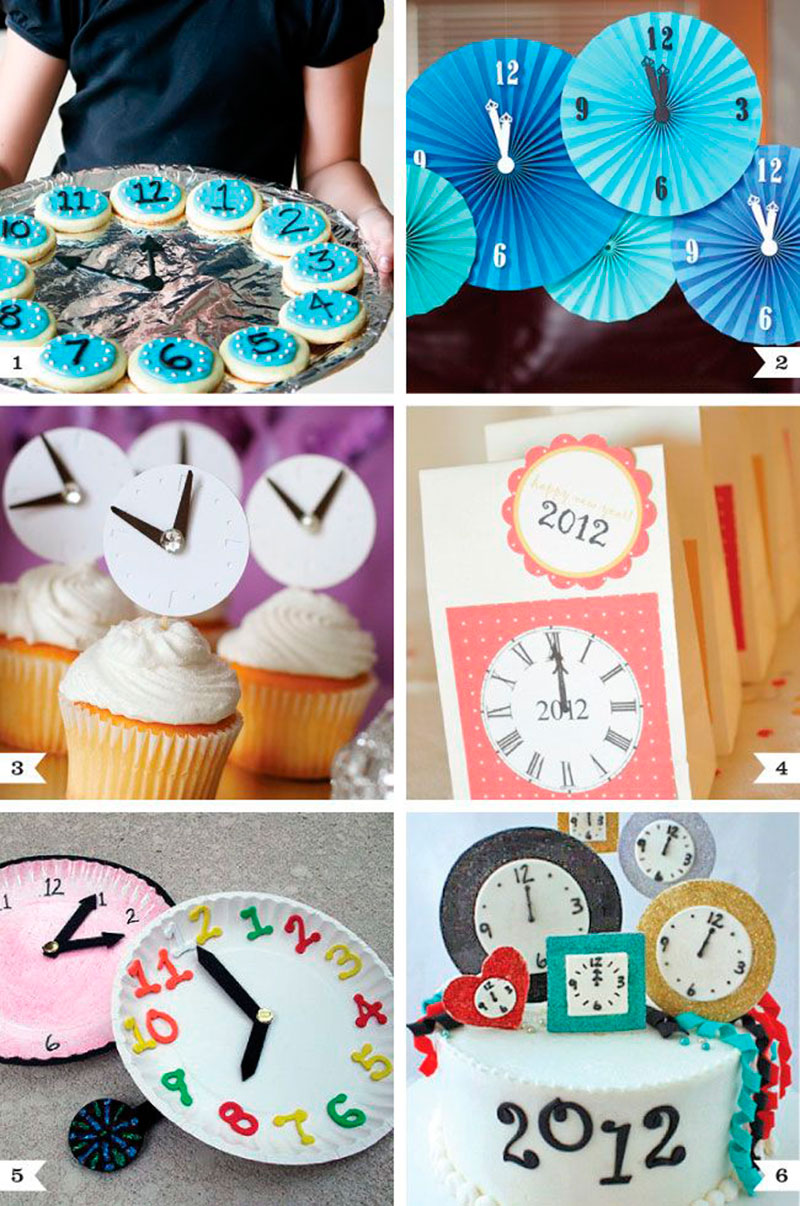 Cupcake decoracao de ano novo