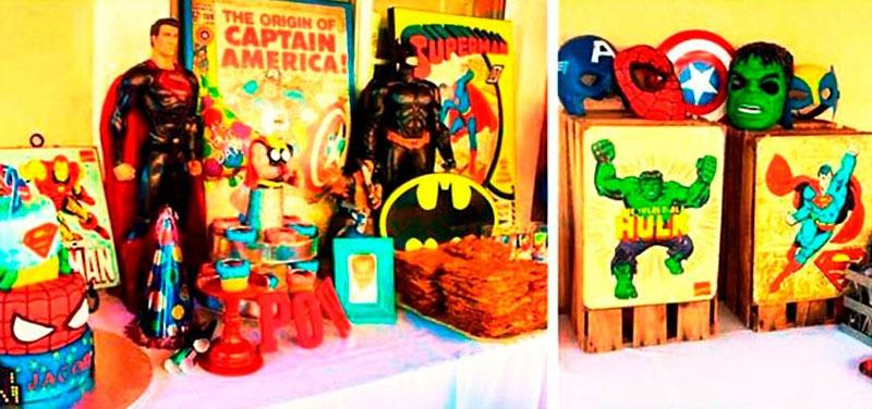 36 inspirações de festas infantis dos super-heróis