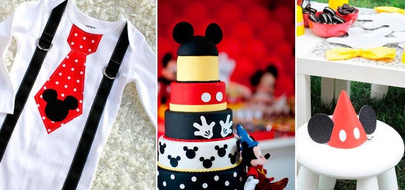 70 inspiracões de festas infantis do Mickey Mouse-festa infantil menino