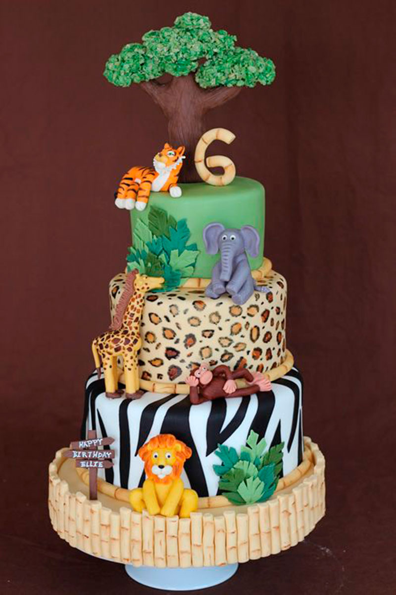 Cake Design Animal : Festa Safari - 60 inspirac?es de decoracao infantil