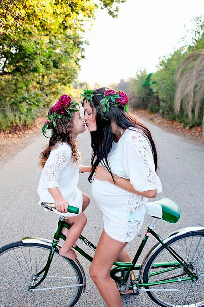 mamae na bicicleta