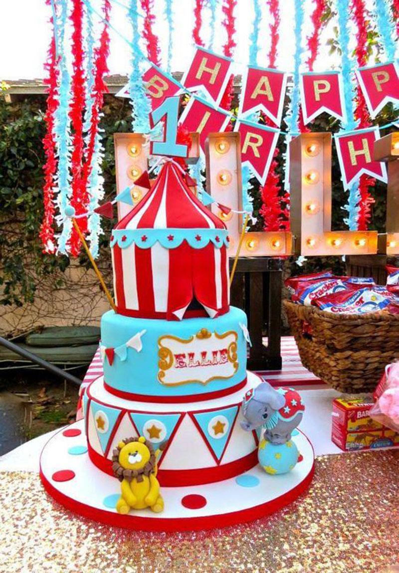 bolo colorido circo