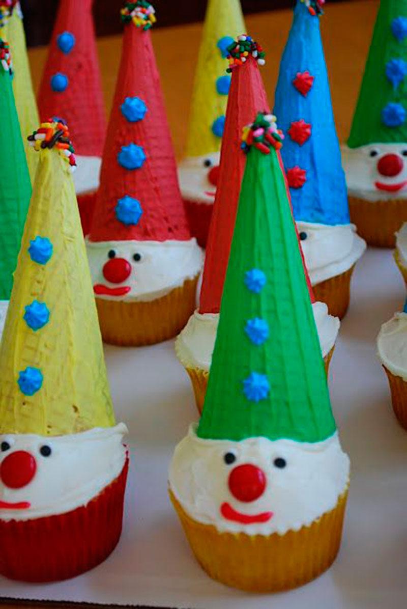 cupcake palhaço