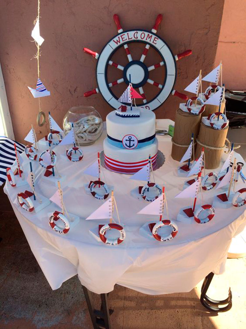 mesa barquinho e bolo