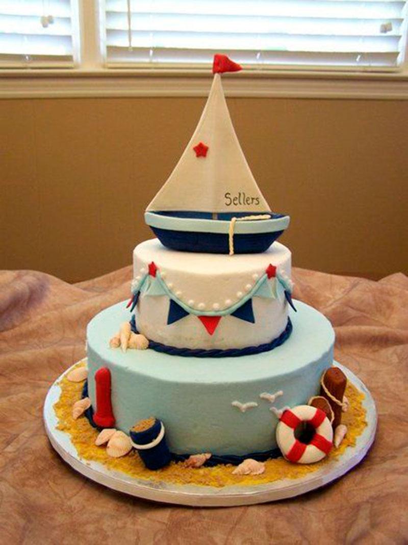 super decorado - bolo marinheiro