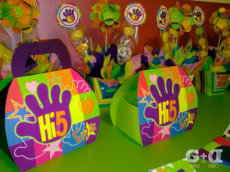 lembrancinha festa hi-5