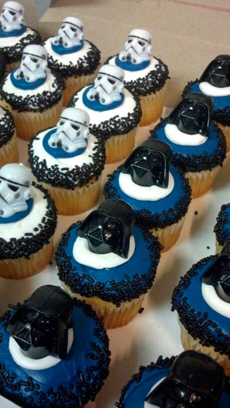 Stormtrooper  e darth vader cupcake