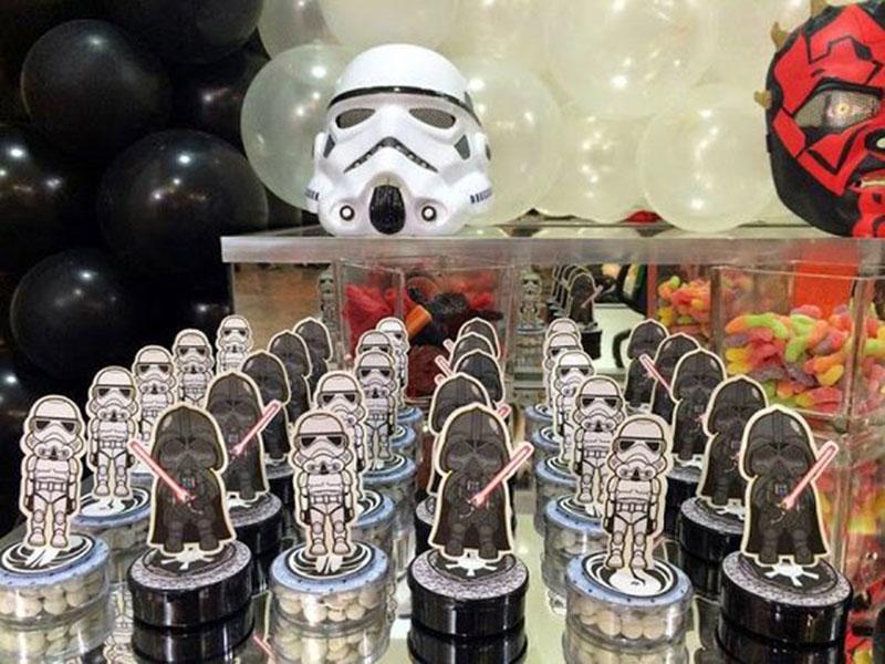 Stormtrooper e darth vader guloseimas