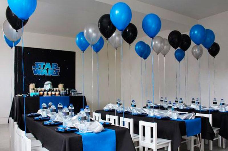 azul preto e cinza festa
