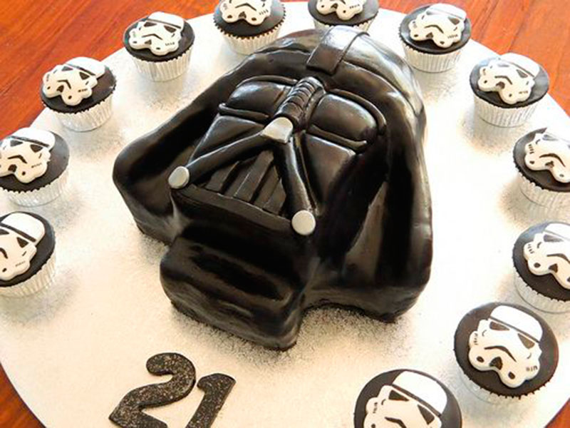 darth vader cupcake festa Star Wars