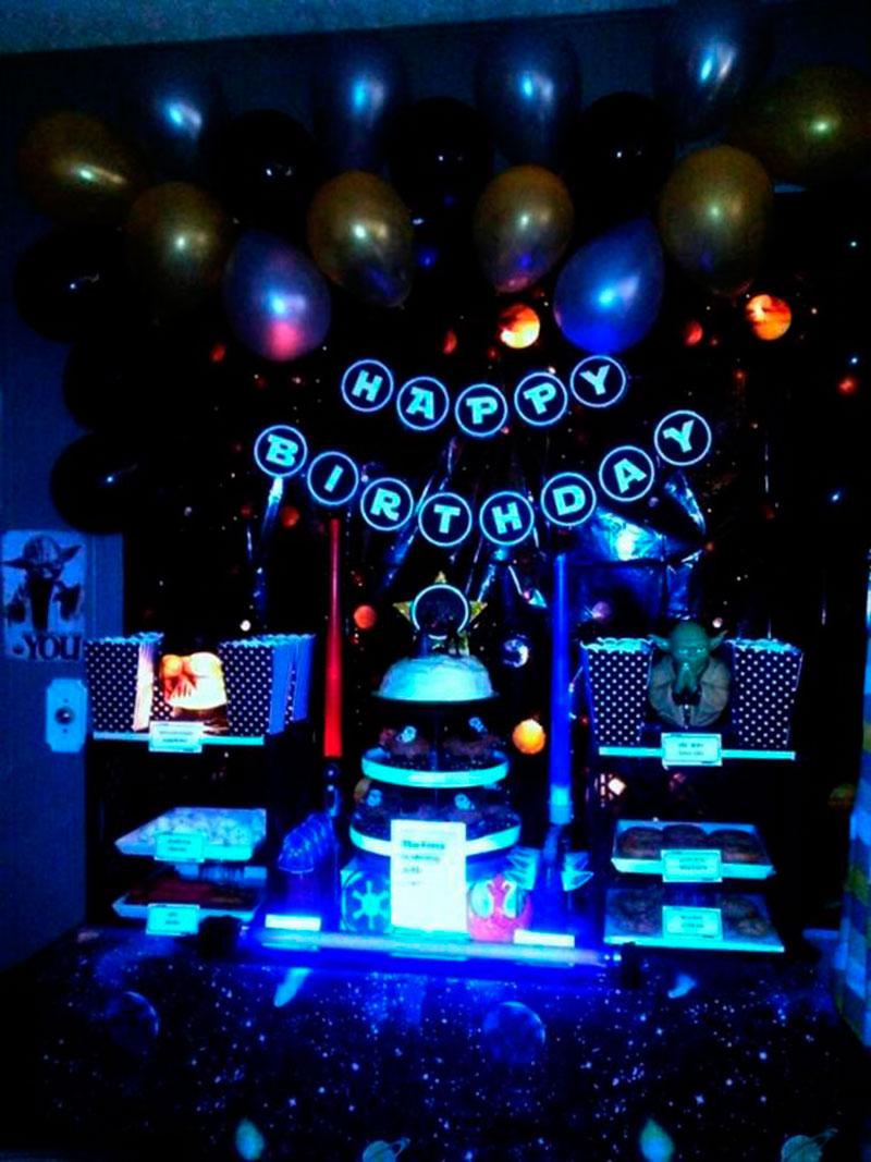 festa infantil neon