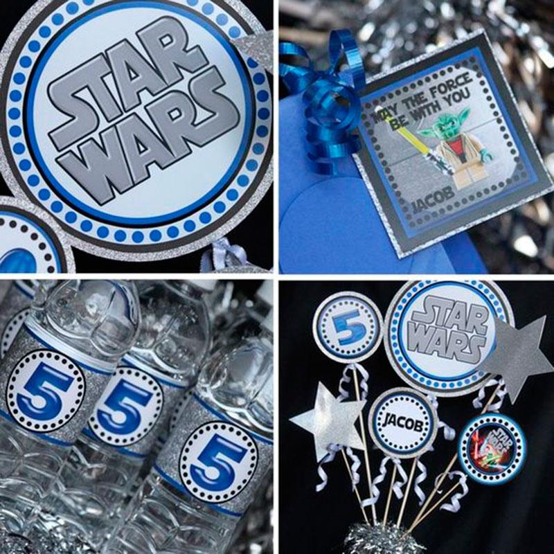 ideias de como decorar mesa star wars