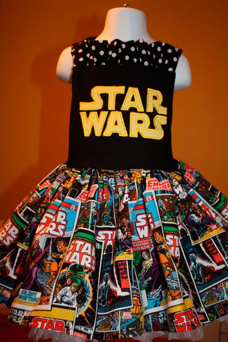 vestido festa star wars