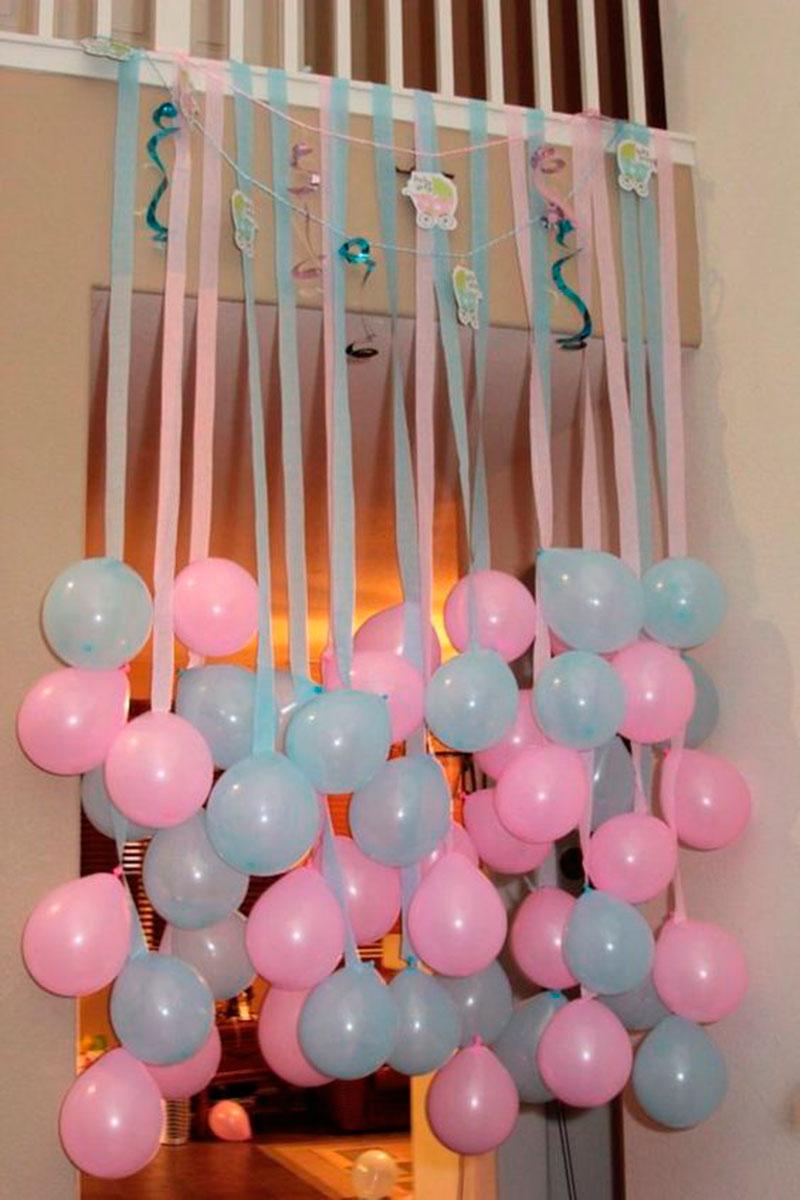 baloes rosa e azul