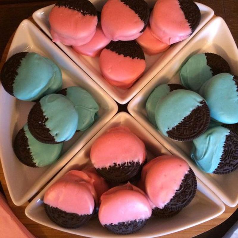 biscoito rosa e azul