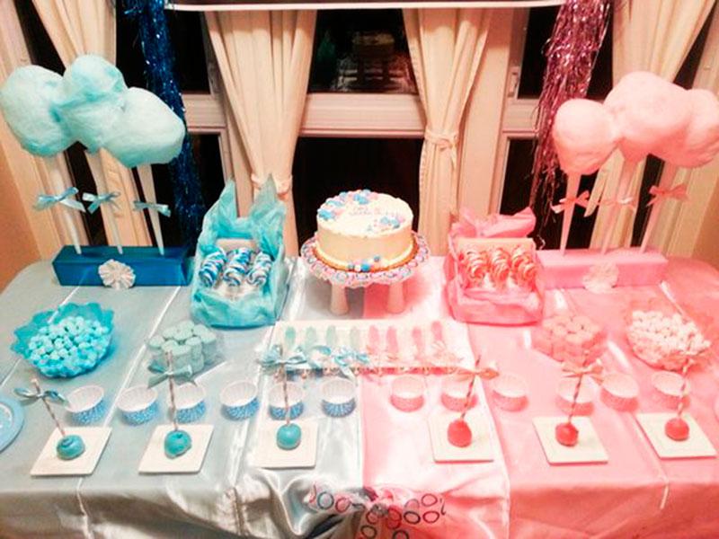 mesa de decoracão festa revelação