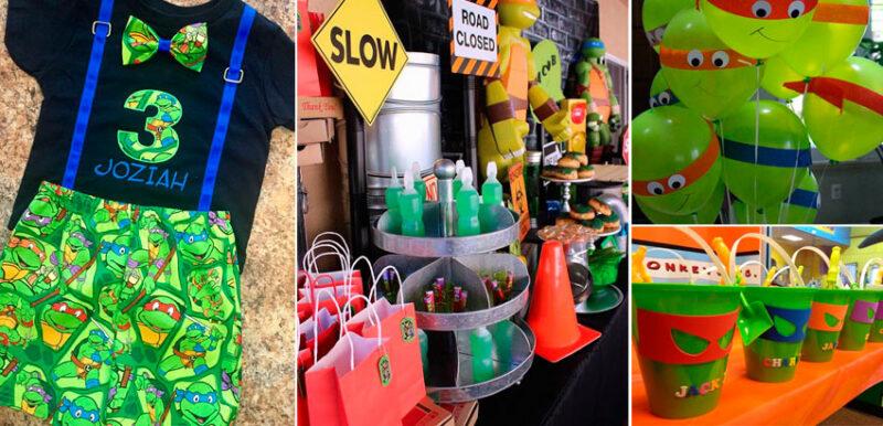 Festa Tartaruga Ninja: 33 melhores ideias para festa infantil