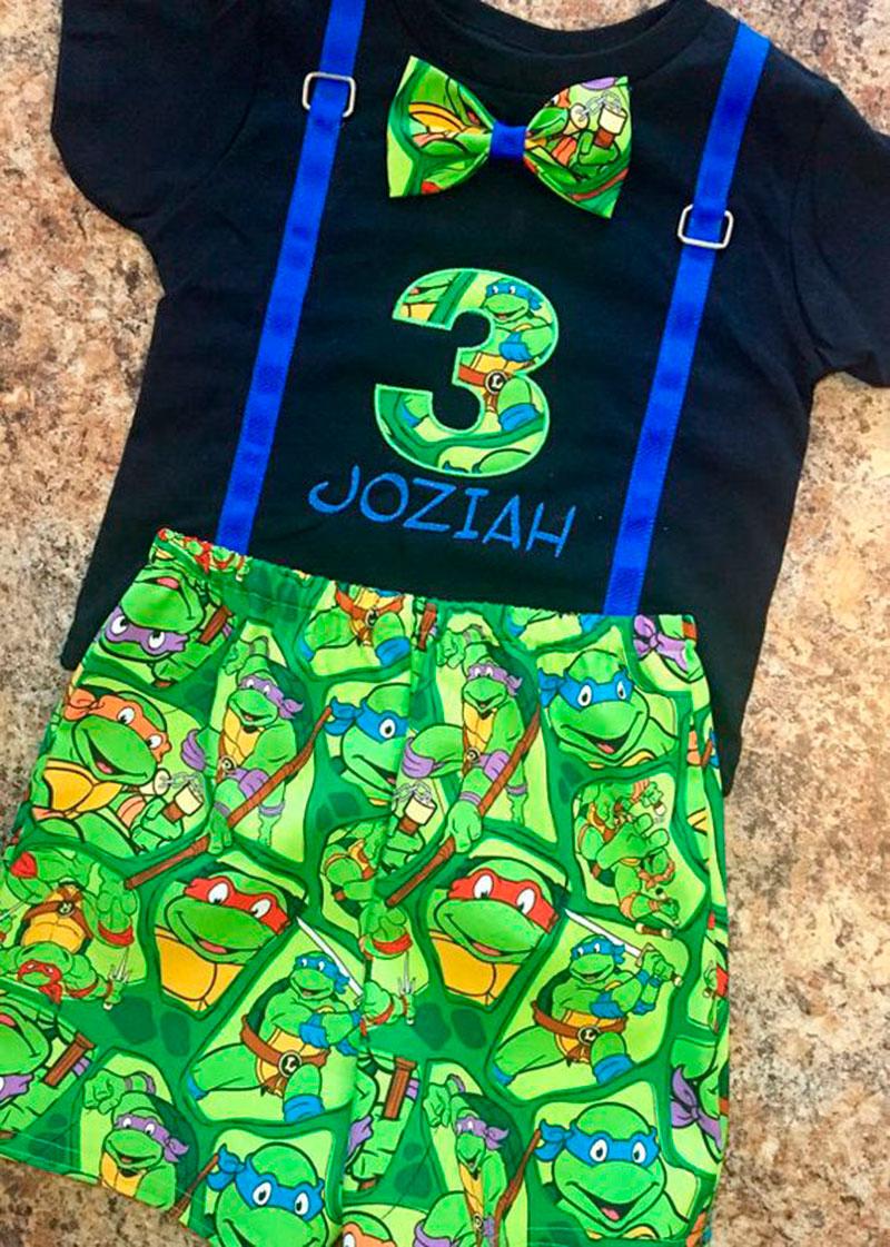 conjunto tartaruga ninja
