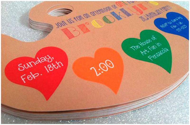 convite de aniversario colorido