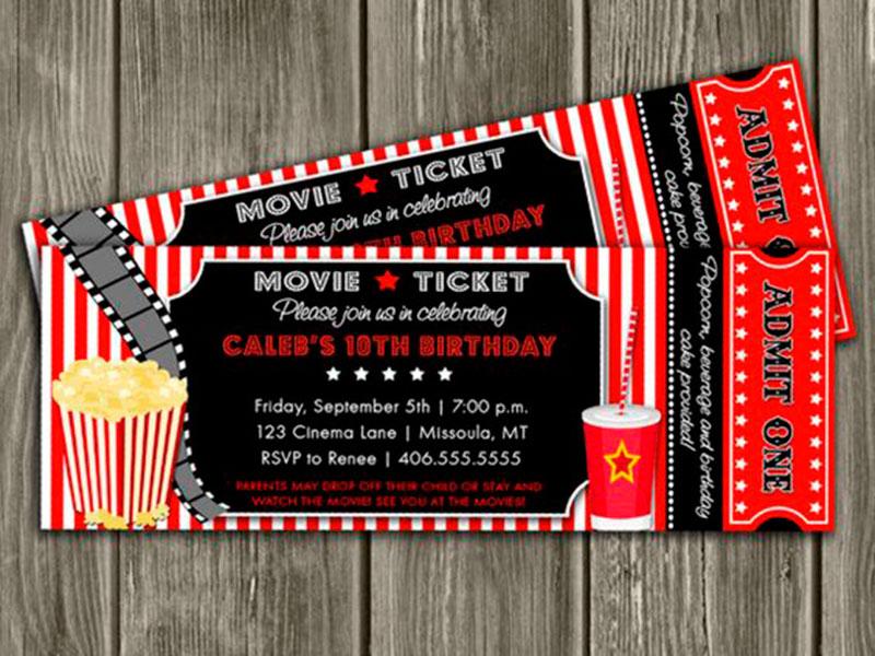 convite de aniversário infantil-cinema