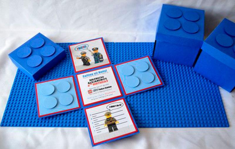 convite de aniversário infantil - Lego