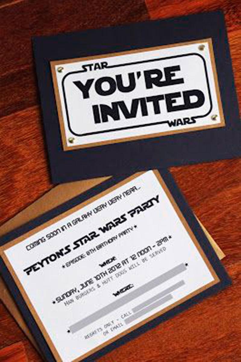 convite de aniversário infantil - star wars