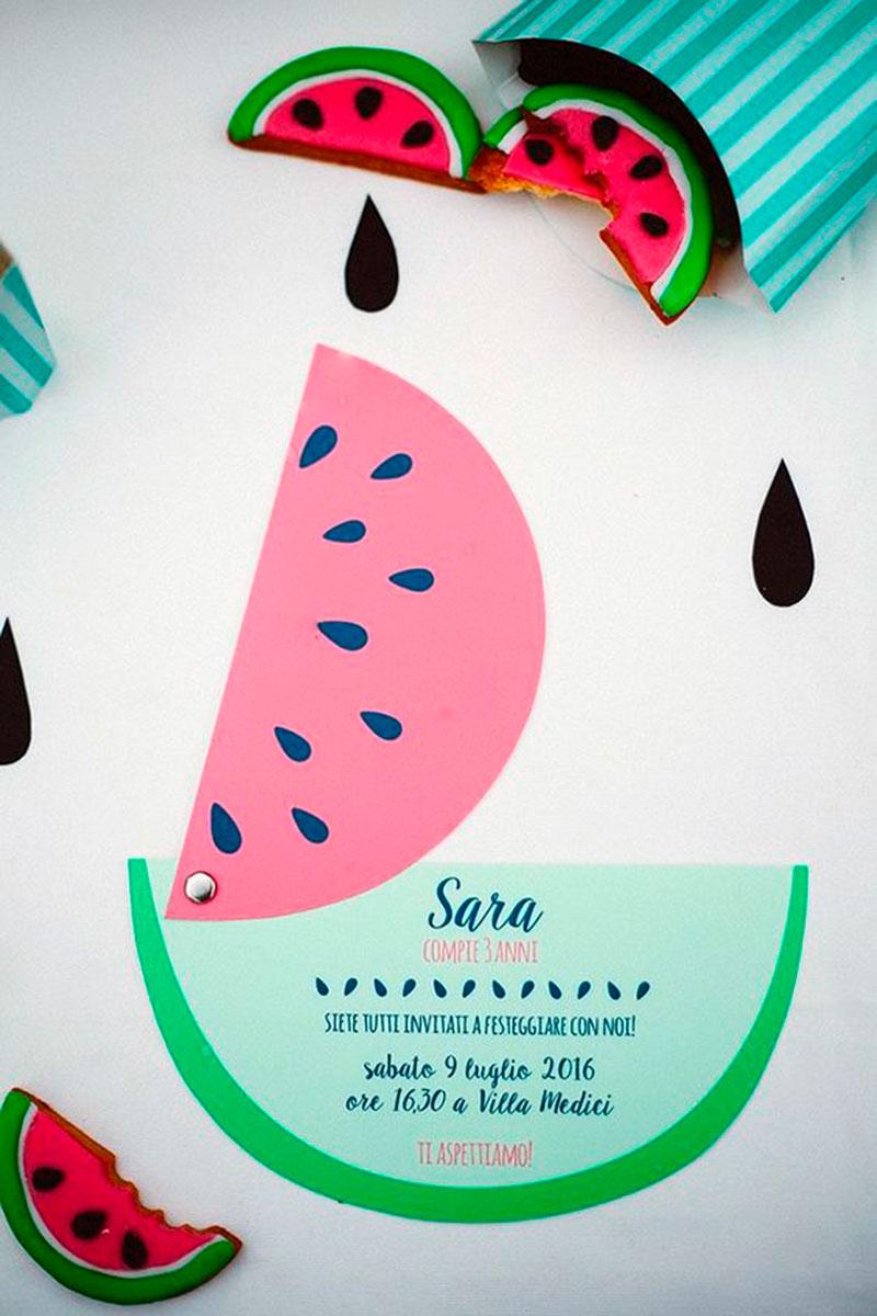convite de aniversario - melancia
