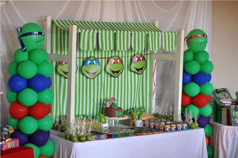 decoração-tartaruga ninja-verde