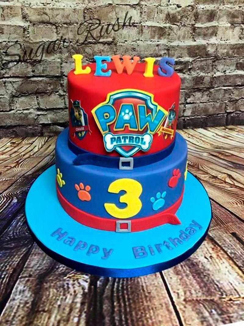 bolo de aniversário patrulha