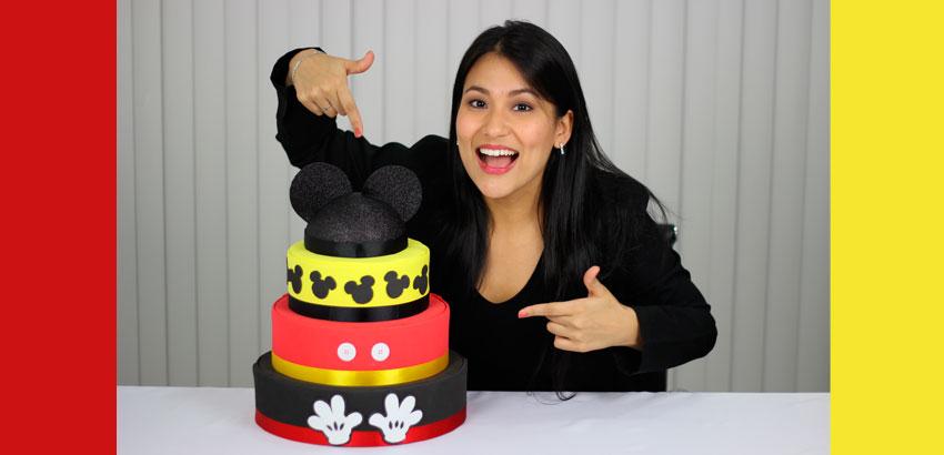 Como fazer Bolo de EVA do Mickey