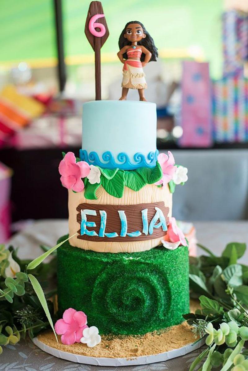 ideia de bolo moana