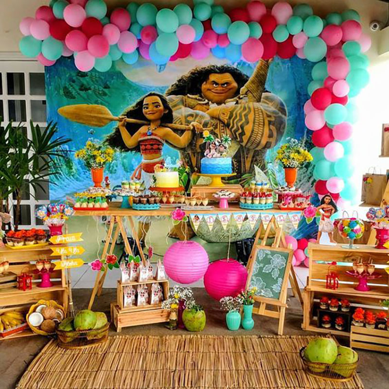 mesa decorada moana