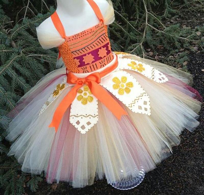 vestido festa moana